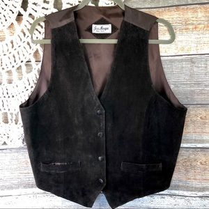 Boho Brown Suede Vest for Fall Large